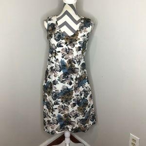 Marni Cotton Floral Print Sleeveless Shift Dress